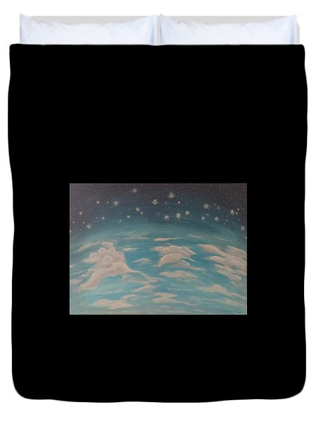 Sitting On Top Of The World Duvet Cover by Thomasina Durkay