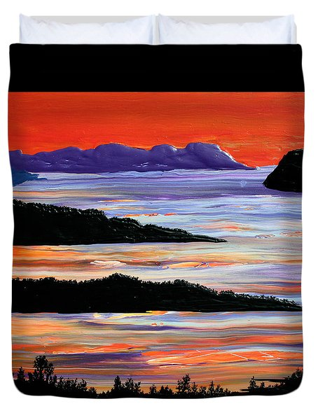 Sitting Seaside Duvet Cover