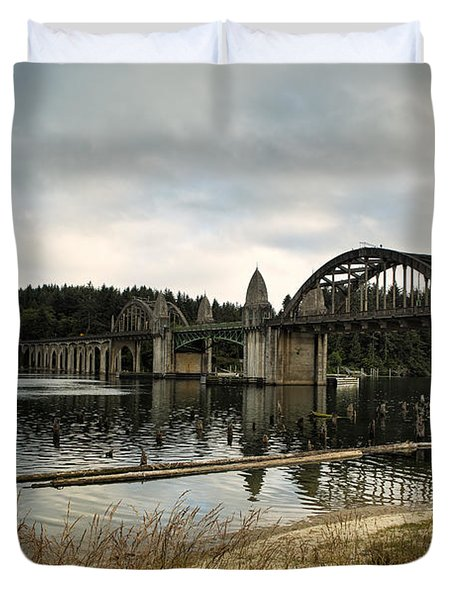 Siuslaw River Bridge Duvet Cover