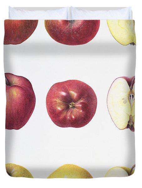 Six Apples Duvet Cover