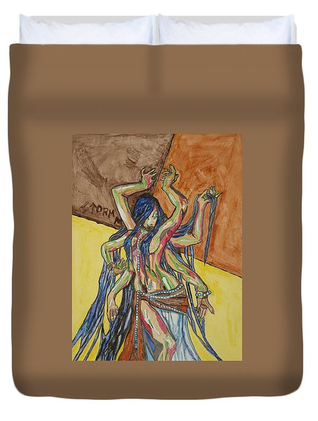 Six Armed Goddess Duvet Cover by Stormm Bradshaw