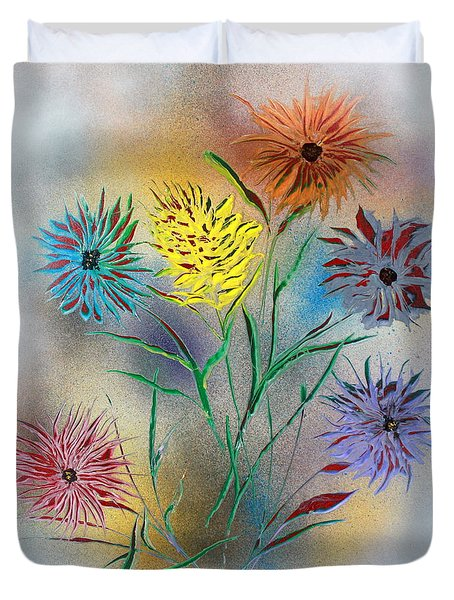 Six Flowers Duvet Cover