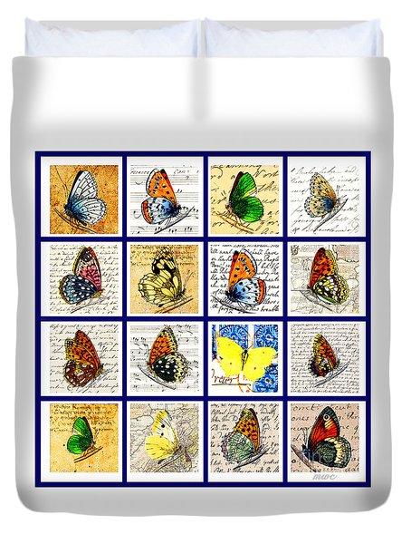 Sixteen Butterflies Duvet Cover