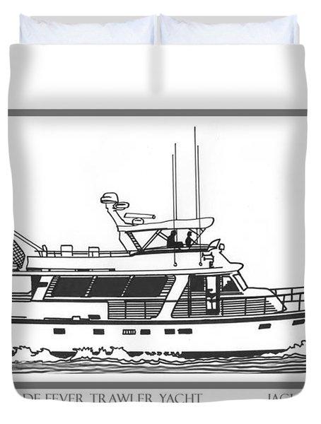 Sixtyfive Foot Defever Trawler Yacht Duvet Cover by Jack Pumphrey
