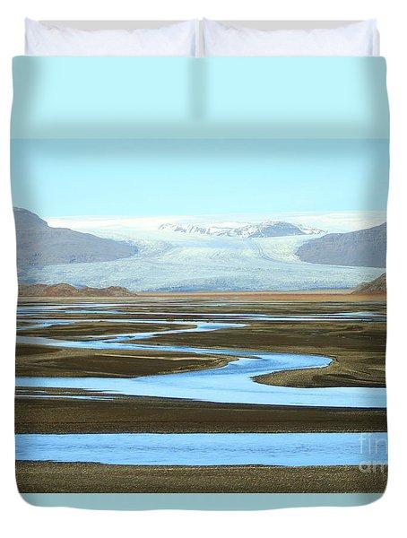 Skaftafell Glacier Duvet Cover
