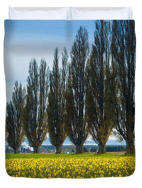 Skagit Trees Duvet Cover by Inge Johnsson
