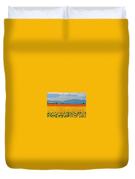 Skagit Valley Tulip Field Duvet Cover