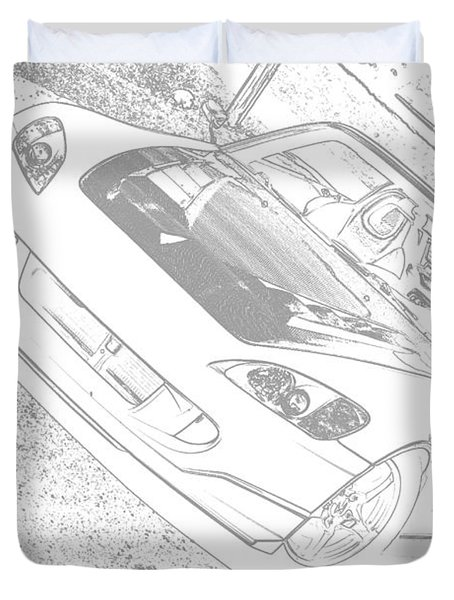 Sketched S2000 Duvet Cover by Eric Liller