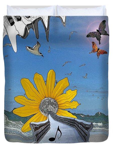 Duvet Cover featuring the photograph Sketchy by Amanda Vouglas