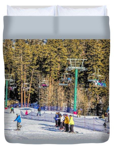 Ski Day Duvet Cover by Tammy Espino