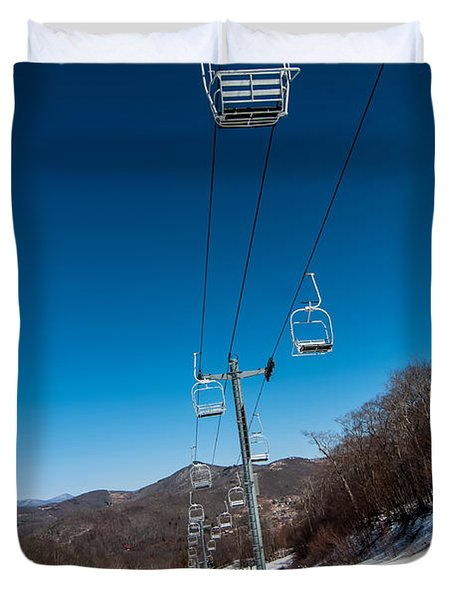 Ski Lift Duvet Cover