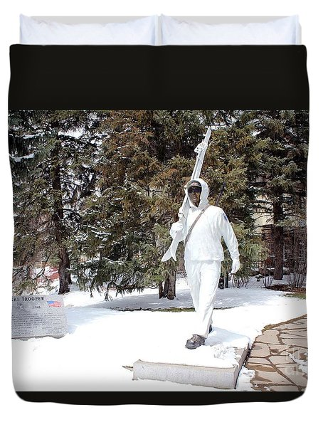 Ski Trooper Duvet Cover by Fiona Kennard