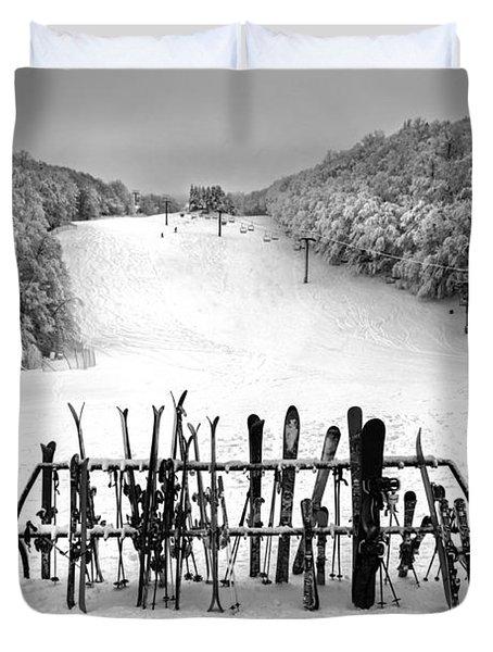 Ski Vermont At Middlebury Snow Bowl Duvet Cover