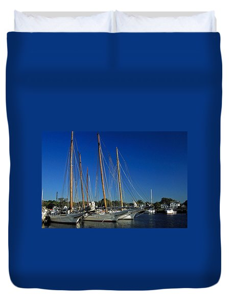 Skipjacks  Duvet Cover by Sally Weigand