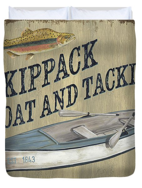 Skippack Boat And Tackle Duvet Cover