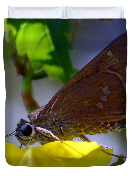 Skipper Butterfly Duvet Cover by Debra Martz