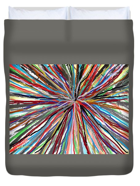 Duvet Cover featuring the painting Skipping Ropes  by Mudiama Kammoh