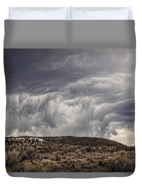 Skirting The Storm Duvet Cover