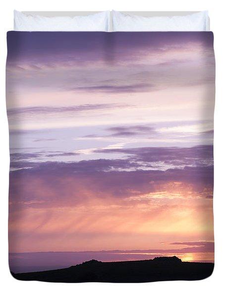 Skomer Sunset Duvet Cover by Anne Gilbert