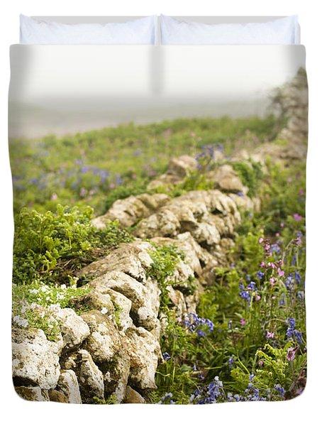 Skomer Wildflowers Duvet Cover by Anne Gilbert