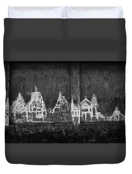 Skc 0003 Temple Complex Duvet Cover by Sunil Kapadia