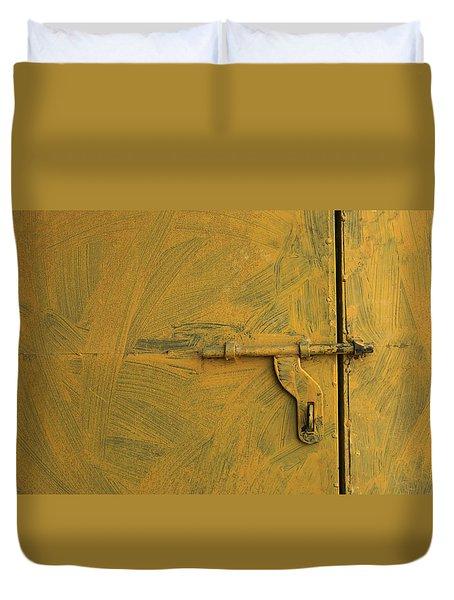 Skc 0047 The Door Latch Duvet Cover by Sunil Kapadia