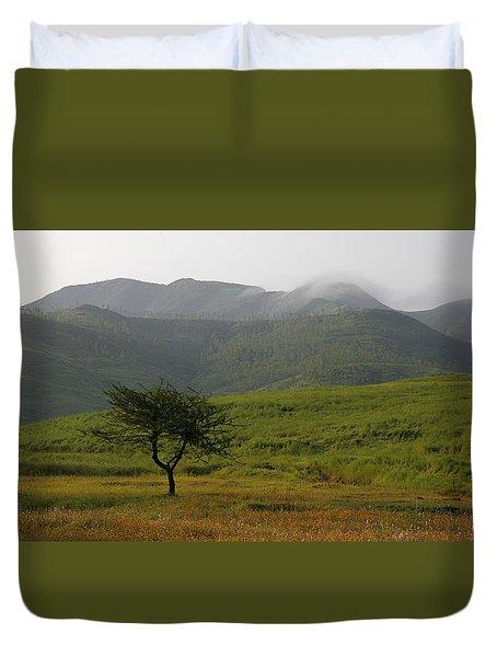 Skc 0053 A Solitary Tree Duvet Cover by Sunil Kapadia