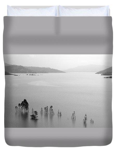 Skc 0055 A Hazy Riverscape Duvet Cover by Sunil Kapadia