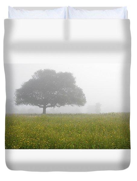 Skc 0056 Tree In Fog Duvet Cover by Sunil Kapadia