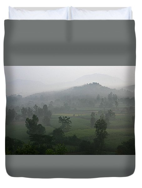 Skc 0079 A Winter Morning Duvet Cover by Sunil Kapadia