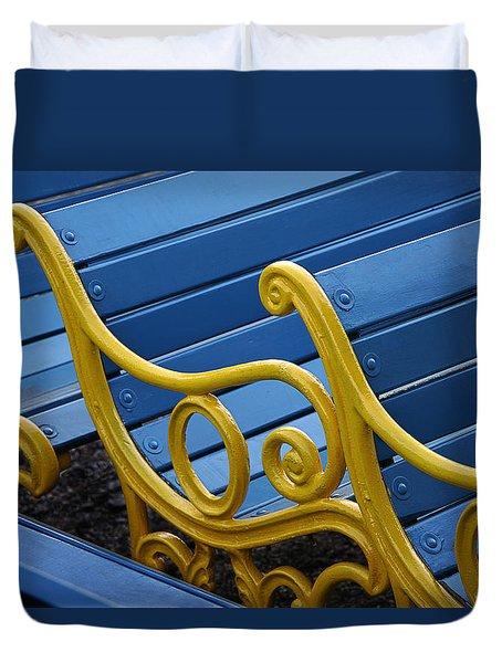 Skc 0246 The Garden Benches Duvet Cover by Sunil Kapadia