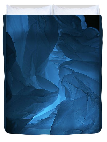 Skc 0247 A Mystery In Blue Duvet Cover by Sunil Kapadia