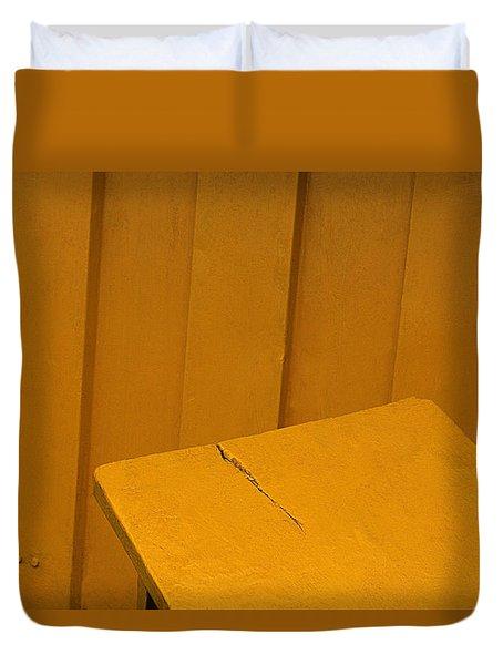 Skc 1496 A Tea Shack Bench Duvet Cover by Sunil Kapadia
