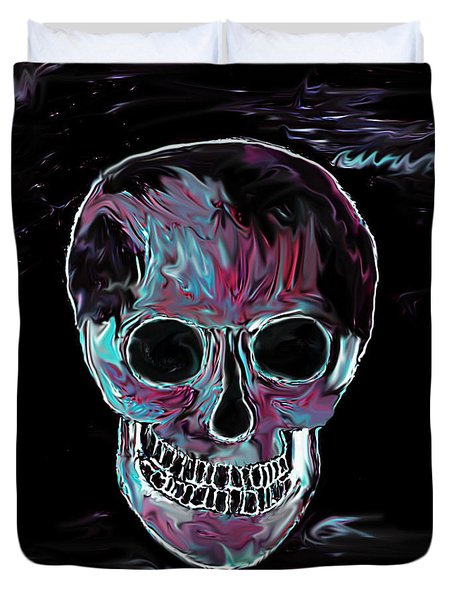 Skull Duvet Cover by Annie Zeno