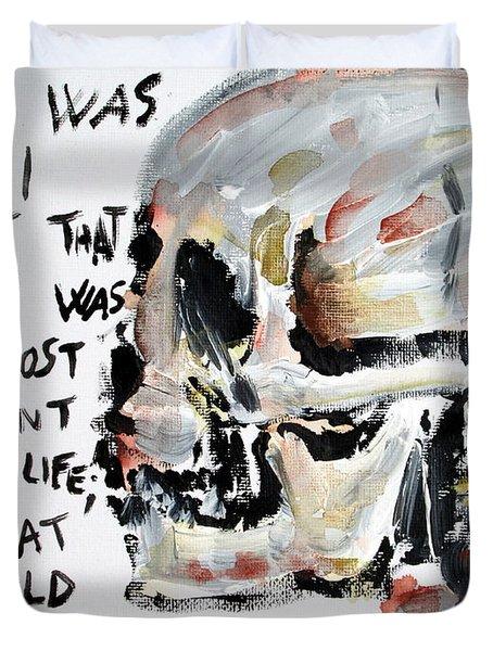 Skull Quoting Oscar Wilde.3 Duvet Cover by Fabrizio Cassetta