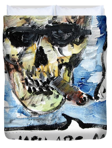 Skull Quoting Oscar Wilde.6 Duvet Cover by Fabrizio Cassetta