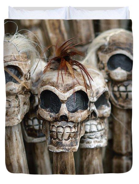 Skull Sticks Duvet Cover