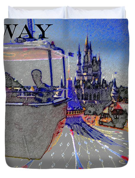 Skway Magic Kingdom Duvet Cover by David Lee Thompson