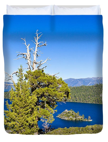 Sky Blue Water - Emerald Bay - Lake Tahoe Duvet Cover