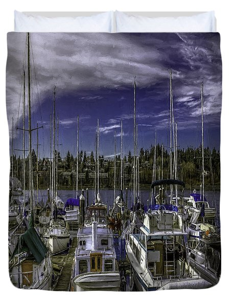 Duvet Cover featuring the photograph Sky Embrace by Jean OKeeffe Macro Abundance Art