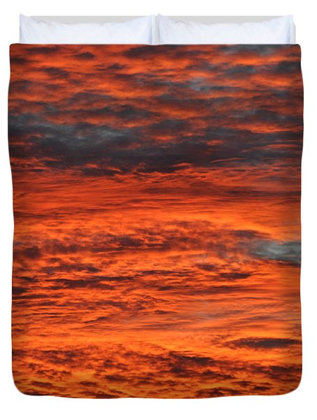 Sky Fire  Duvet Cover