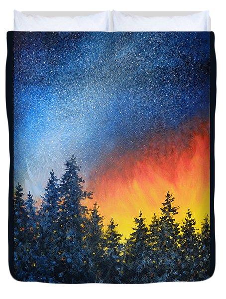 Sky Fire Duvet Cover
