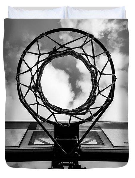 Sky Hoop Basketball Time Duvet Cover