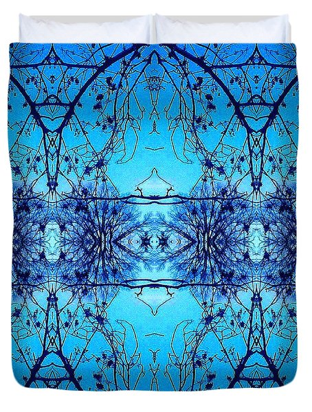 Duvet Cover featuring the photograph Sky Lace Abstract Photo by Marianne Dow