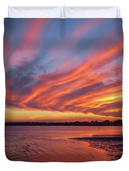 Sky On Fire Duvet Cover by Jane Luxton