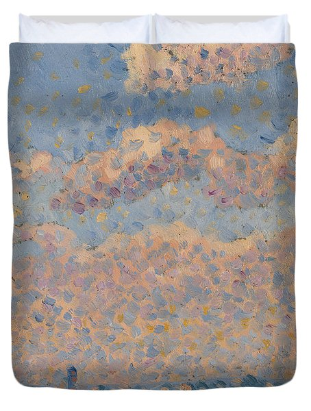 Sky Over The City Duvet Cover by Louis Hayet