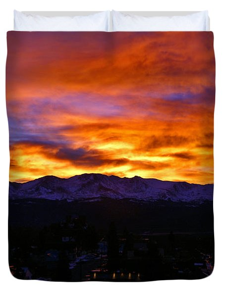 Duvet Cover featuring the photograph Sky Shadows by Jeremy Rhoades