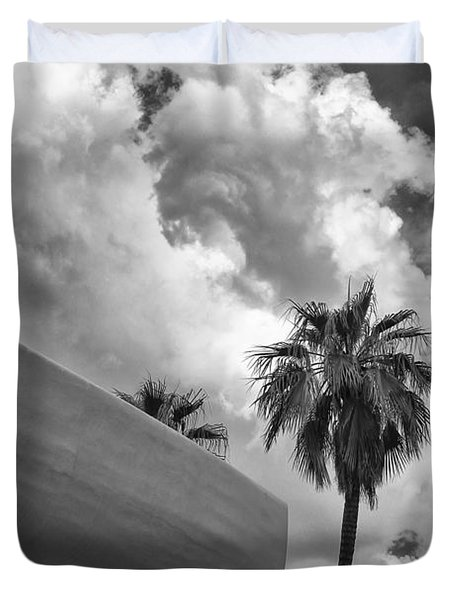 Sky-ward Palm Springs Duvet Cover by William Dey