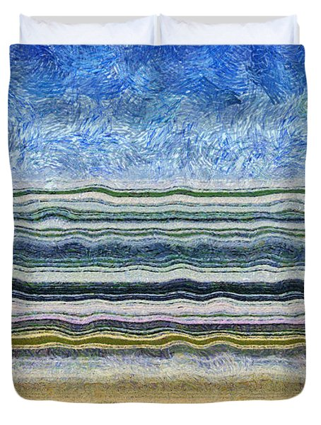 Sky Water Earth 2 Duvet Cover by Michelle Calkins