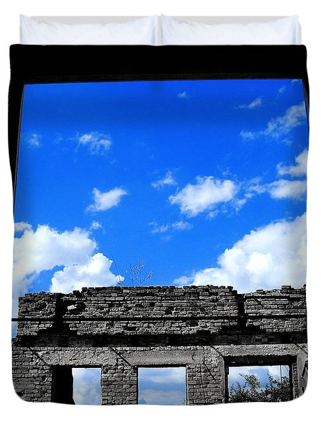 Duvet Cover featuring the photograph Sky Windows by Nina Ficur Feenan